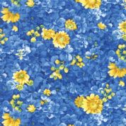 Moda - Summer Breeze 2019 - 7076 - Small Yellow and Blue Floral - 33442 12 - Cotton Fabric